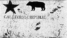 Replica Of The First Bear Flag