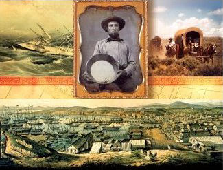 1849 Gold Rush - They Came to California By Land And Sea