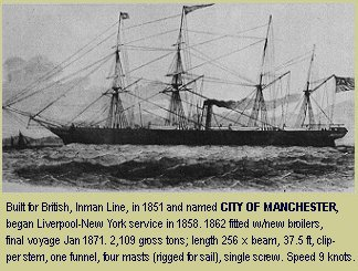 Lizzie's ship, City of Manchester