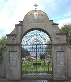 Gate to Mission San Gabriel Cemetery