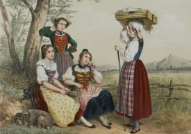 Traditional Swiss women's clothing