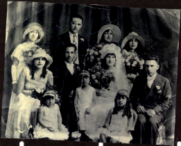 Wedding picture of Edward E. Stafford Jr. and Amelia Pauline Sanders